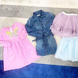Girl Bundle Dresses Skirt